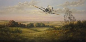 Spitfire Over the Wolds